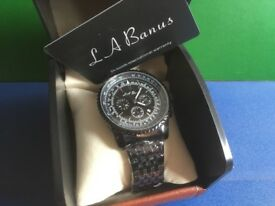 RRP £380 LA Banus All Black Men's Chronographic Watch