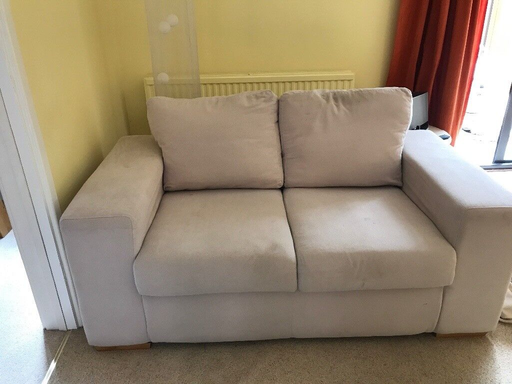 2 seater sofa in neutral tone