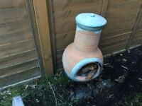 Ornate log burner £10 BBQ stainless steel would look good with a plant in £7 call 07812989350