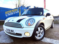 2008 MINI ONE 1.4 PETROL, 1 YEAR MOT, ONLY 75K, WHITE , 3 DOORS, LOVLEY CONDITON, L@@K!!!!!