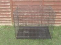 DOG CAGES SMALL £15 MEDIUM £20 LARGE £25 X LARGE £30 XX LARGE £40 ALL WITH TRAYS