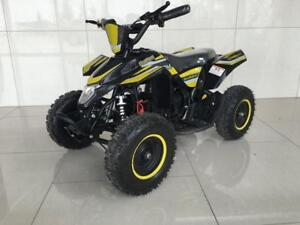 FREE SHIPPING Kids 1000 Watts Electric Mini ATV 36V Quad Adjustable Speed + Reverse + LED Headlights 4 Wheeler VTT