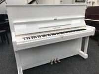 Yamaha U1 Upright Piano White Gloss Fully reconditioned