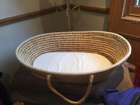 Moses Basket with rocking stand and accessories