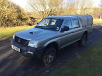 Mitsubishi L200 2.5td double cab Mot till may tow bar and electrics ifor Williams canopy load liner