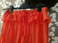 Pretty bright orange cotton dress/jumpsuit