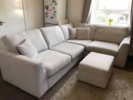 DFS Fabric Corner Sofa - Nearly New