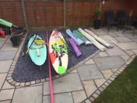2 sailboards Fanatic lite Cat and Vinta 295 + 2 tushingham 6.5 sails, 1 North Idra, 1 telltale 5.9