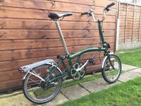 Brompton Folding Bike. M3R. B.R. Green