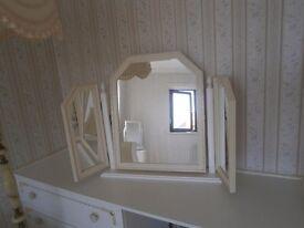 White, Freestanding, Triple Mirror £10