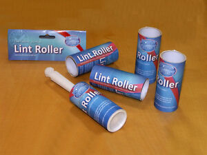 5x PACK ROLLS STICKY LINT REMOVER ROLLER CAT PET DOG HAIR DIRT CLOTHES FURNITURE