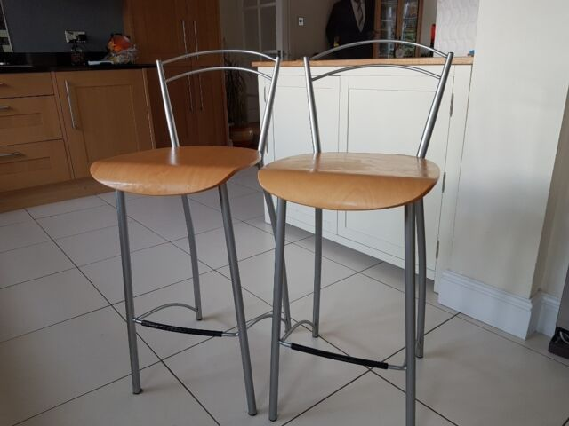 Astounding 2 X Metal Framed John Lewis Kitchen Bar Stools In Excellent Condition In Kings Langley Hertfordshire Gumtree Gmtry Best Dining Table And Chair Ideas Images Gmtryco