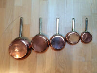 ANTIQUE COPPER SAUCEPANS