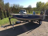 2010 14 foot prince craft aluminum boat fisherman 20hrs run time