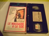 VHS OU BETA FILMS D  HORREUR -DEMONS- MASSACRE A LA SCIE ETC....