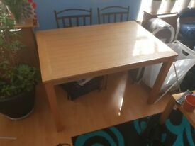 Oak soild wood table for up to 6 people