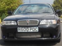 "ROVER 620 Ti 1998 `R` reg excellent condition low mileage. black, 17"" alloys. body kit,half leather."