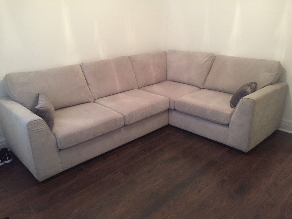 Dfs Grey Corner Sofa For Sale Brand New 3 Months Used
