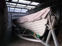 WANTED FACTORY BOAT TRAILER AND BOAT COVER SUITABLE FOR 19FT SHEELIN, LAKE LOUGH TYPE FISHING BOAT