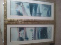 Two large Portrait Countryside Theme Prints