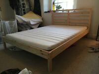 Ikea Double Bed Frame & Mattress