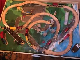 Toy Train Table (with trains) For Sale