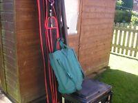 Large amount of tackle rods,reels,box,keepnet landingnet plus carp barrow ect
