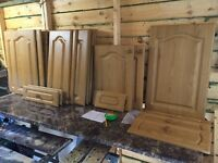ANTIQUE OAK KITCHEN DOOR AND DRAWER FRONTS