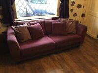 4 seater couch and swivel chair for sale