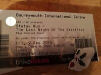 Status Quo Ticket, 9th Dec Bournemouth
