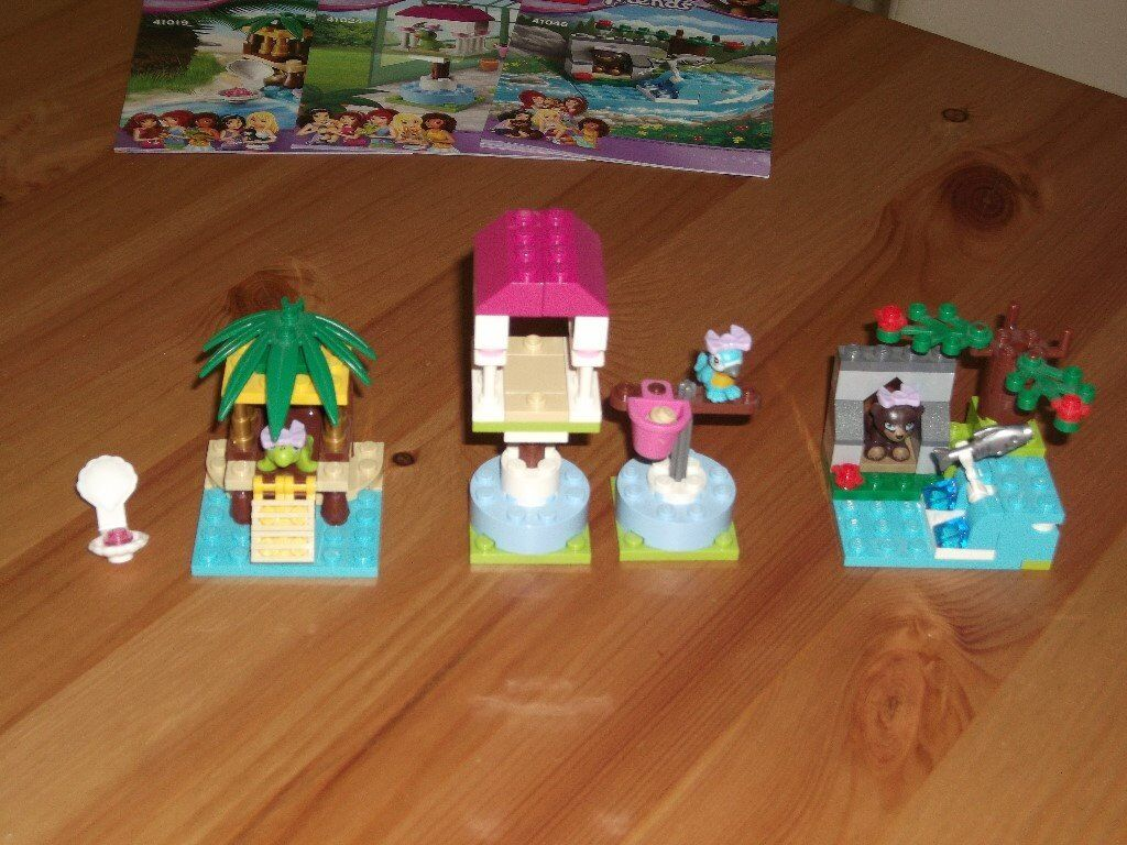 Lego Friends Animal Playsets X3 As New With Instructions In