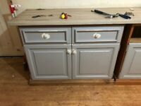 Free kitchen cupboards and worktop