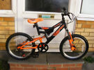 "BOYS 18"" WHEEL BIKE WITH GEARS IN GREAT WORKING ORDER HARDLY USED AGE 6+"