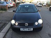 2003 Volkswagen Polo Automatic Petrol Facelift 1.4 S 5dr Hatchback Black