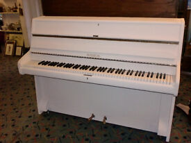 piano upright painted off white modern small overstrung sabby chic can deliver