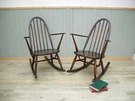 Stunning Pair of Ercol Rocking Chairs