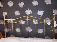 DECORATIVE BRASS DOUBLE BED HEADBOARD - FRENCH BEDROOM STYLE