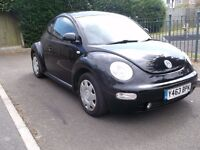 2001 VOLKSWAGON BEETLE 1.6 MANUAL WITH A LONG MOT AND READY TO USE