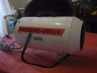 Andrews Sykes industrial heater..^6mts old...good working order