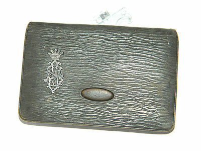 1930s ART DECO Men's Leather COIN PURSE w/ Silver Monogram, #Vintage Fashion