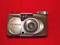 OLYMPUS STYLUS EPIC 170 DE LUXE COMPACT FILM CAMERA WITH ORIG CASE