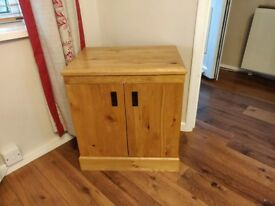 Oak storage unit x 2