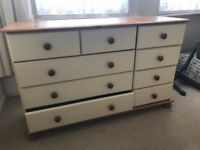 Beautiful Ivory Coloured 2/3/4 Chest of Drawers