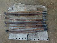 vintage cane drain rods