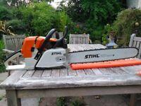 Stihl ms440 chainsaw, Light yet powerful professional saw.