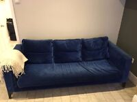Heal's Sofa - 3 Seater, blue suede RRP £2500