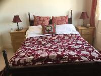 Mahogany bed and bench