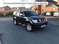 07 nissan pathfinder sport diesel 7 seater , trade in welcome