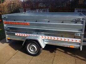 NEW Car trailers 7,7'' x 4,1'x 2,62 twin axle, double broadside small cover free