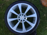 4 X alloy wheels with new tyres